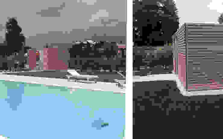 Progettazione e realizzazione di struttura esterna in una villa sul lago di Garda di Entrata Libera 48 Minimalista