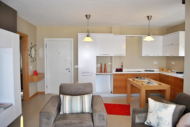 Azure Villalari 2 Odali Flat Daireler Modern Oturma Odası Estateinwest Modern