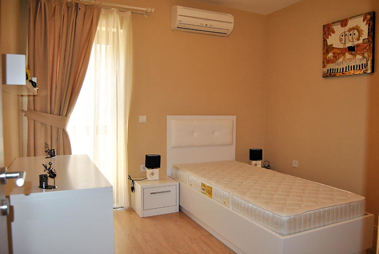 Azure Villaları 3 Odalı İkiz Dubleksler Modern Yatak Odası Estateinwest Modern