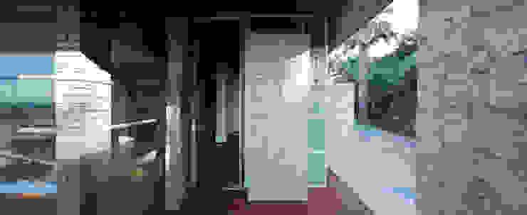 무회건축연구소 Modern corridor, hallway & stairs