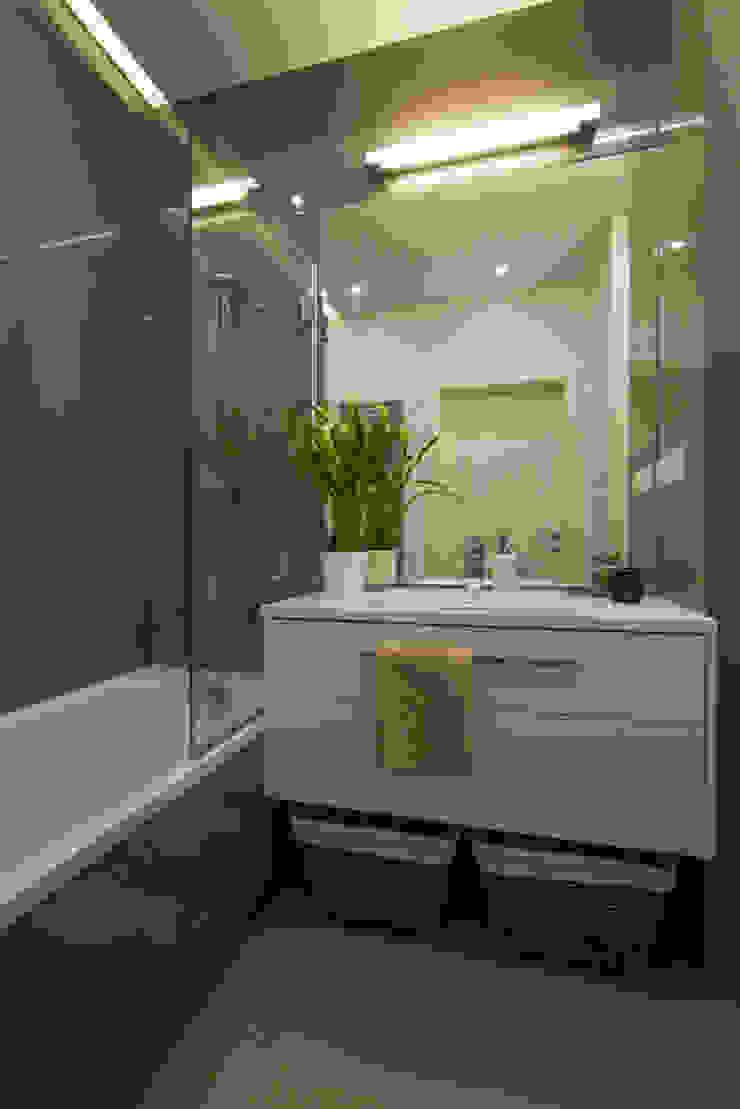 .nowoczesne kobiece mieszkanie w Warszawie Nowoczesna łazienka od Art of home Nowoczesny