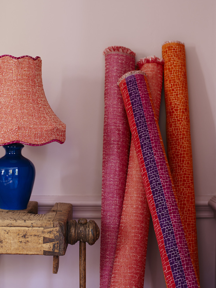 Roco cam Ruang Keluarga Gaya Mediteran Oleh Prestigious Textiles Mediteran