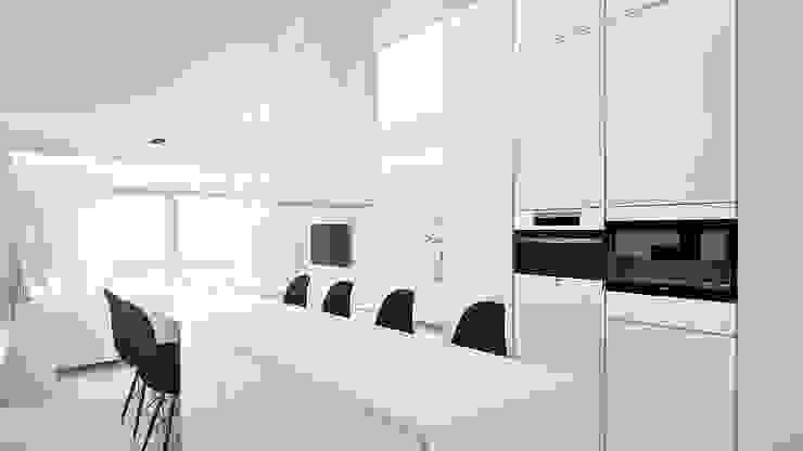 Minimalistyczna kuchnia od KA Arquitectos Minimalistyczny