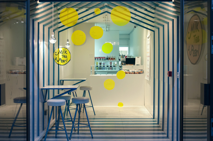 Milk Tea & Pearl Boxpark Modern commercial spaces by atelier Y A O Modern