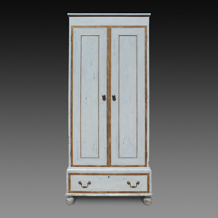 The 'Painted and Gilt Wardrobe' by Perceval Designs Perceval Designs BedroomWardrobes & closets