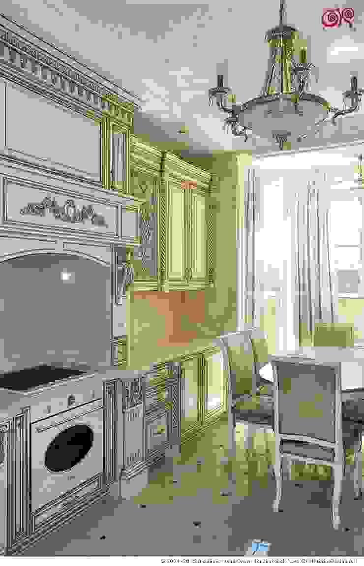 Изящная классика в интерьере 4-комнатных апартаментов Кухня в классическом стиле от Дизайн студия Ольги Кондратовой Классический