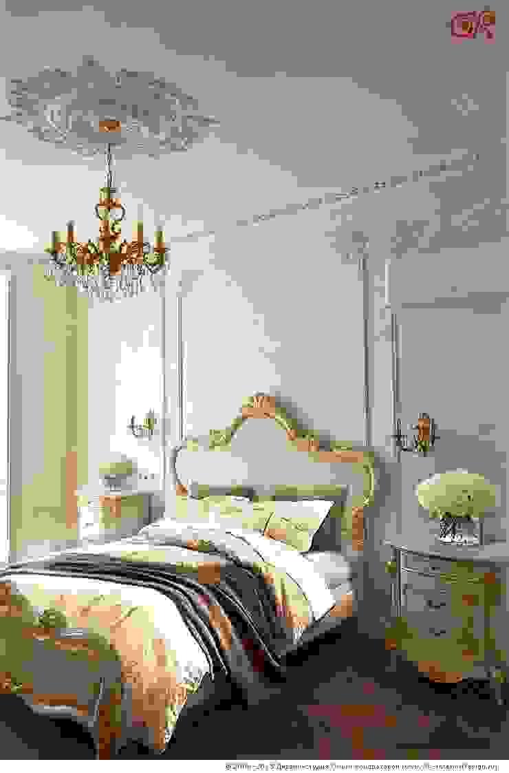 Изящная классика в интерьере 4-комнатных апартаментов Спальня в классическом стиле от Дизайн студия Ольги Кондратовой Классический