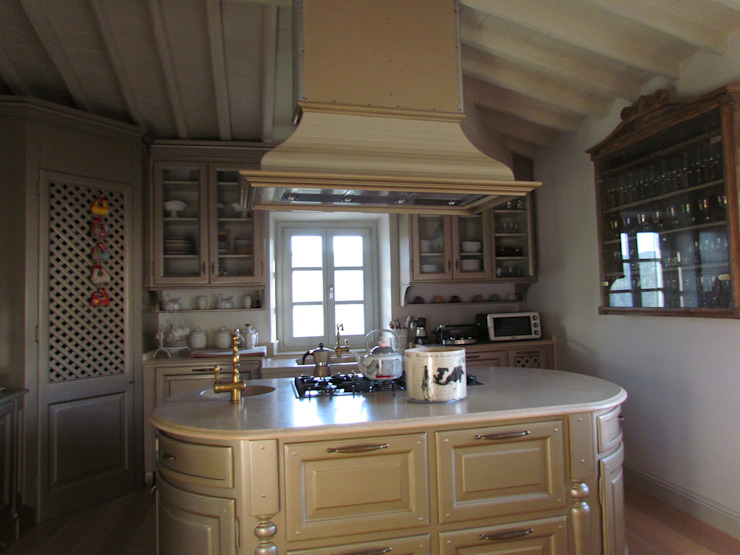 Cucina in legno massello Garden House Lazzerini CucinaPiani di lavoro