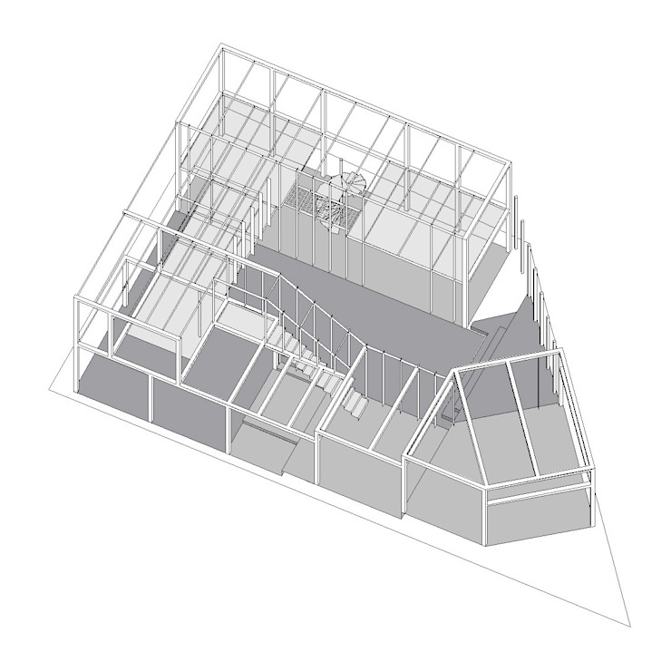 Casas modernas de 中辻正明・都市建築研究室 Moderno