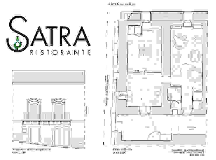 SATRA RISTORANTE Gastronomia in stile eclettico di ARCH. FRANCESCA TIMPERANZA Eclettico