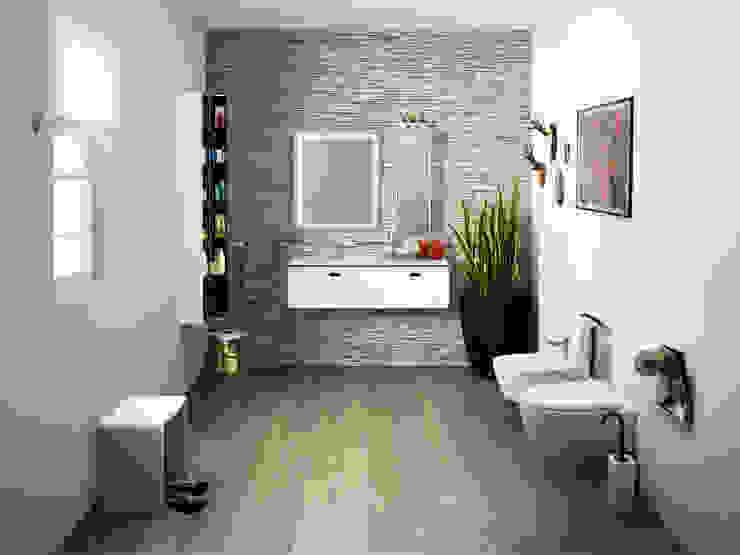 7 BATHROOMS FOR 7 STORIES Banheiros ecléticos por Lineabeta Eclético
