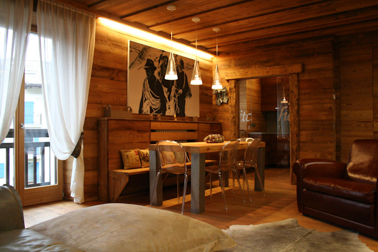 Rustic style dining room by Architetto Stefania Colturi Rustic