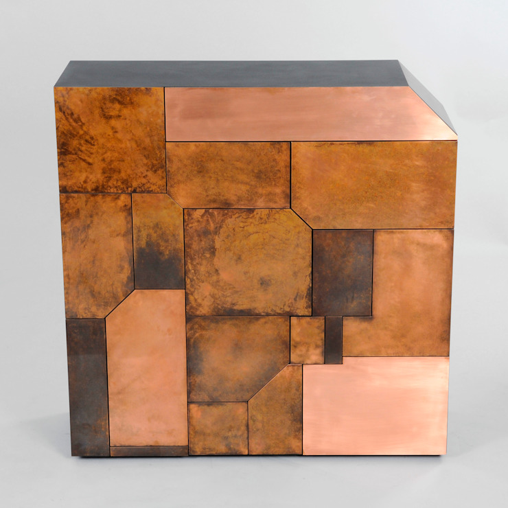 Elementi - Copper Patina Cabinet: eclectic  by Andrea Felice - Bespoke Furniture, Eclectic