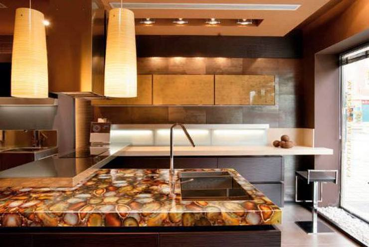 Carnelian Kitchen CounterTop: modern  by Stonesmiths - Redefining Stone-Age,Modern