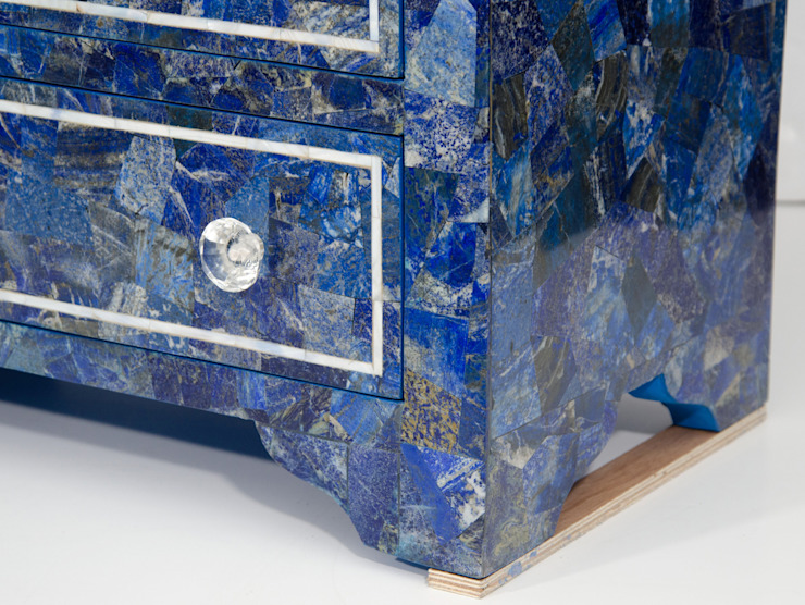 Lapis Lazuli Chest -Drawer: modern  by Stonesmiths - Redefining Stone-Age,Modern