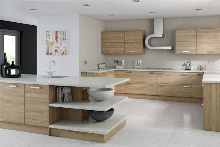 Modern Walnut Kitchen: modern  by Kitchens Continental Ltd, Modern