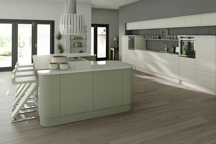 Bespoke Modern Kitchen di Kitchens Continental Ltd Moderno