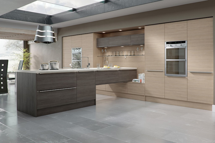 Bespoke Modern Kitchen by Mackintosh por Kitchens Continental Ltd Moderno