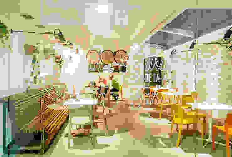 El Jardín de la Tahona Gastronomía de estilo rústico de RCP arquitectos Rústico