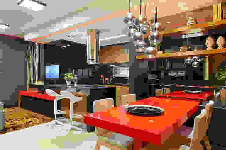 Espaço social integrado Salas de jantar modernas por AL11 ARQUITETURA Moderno
