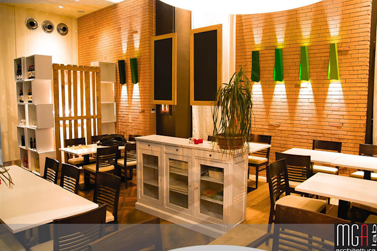 GHEA – VEGETARIAN RESTAURANT Gastronomia in stile moderno di MGA LAB Moderno