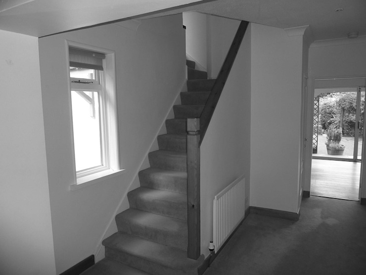 Before image - Staircase: modern  by Angel Martin Interiors, Modern