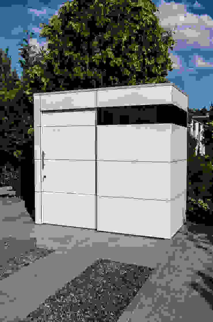 design@garten - Alfred Hart - Design Gartenhaus und Balkonschraenke aus Augsburg สวน ไม้ผสมพลาสติก White