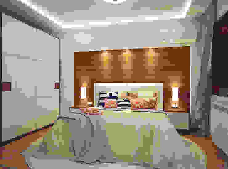 Спальня в двухкомнатной квартире на Бескудниковском бульваре Спальня в эклектичном стиле от «Студия 3.14» Эклектичный