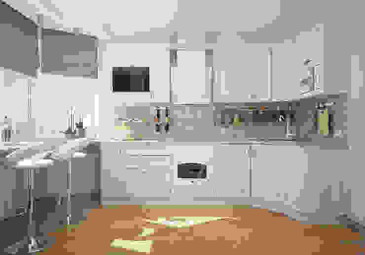 Кухня в двухкомнатной квартире на Бескудниковском бульваре Кухни в эклектичном стиле от «Студия 3.14» Эклектичный