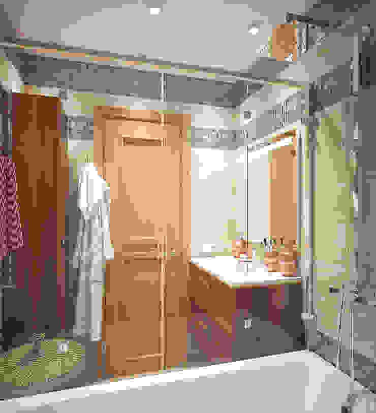 """""""Четверка в двушке"""" Ванная комната в эклектичном стиле от «Студия 3.14» Эклектичный"""
