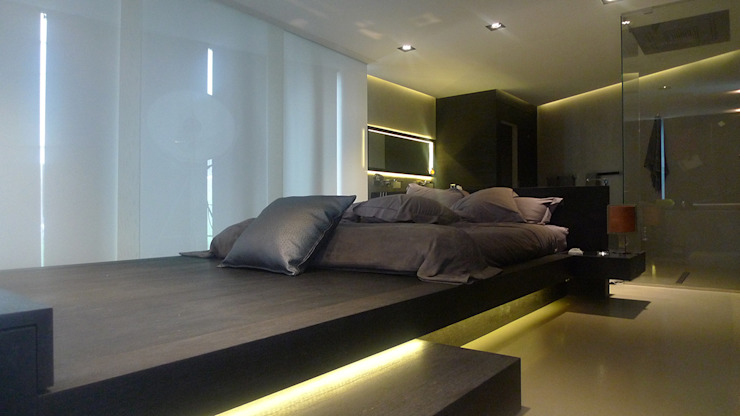 Vivienda unifamiliar en Ibiza Dormitorios de estilo moderno de Ivan Torres Architects Moderno