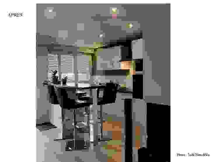 Restructuration et décoration d'un appartement à Quimper par Lucile Tréguer, décoratrice d'intérieur Moderne