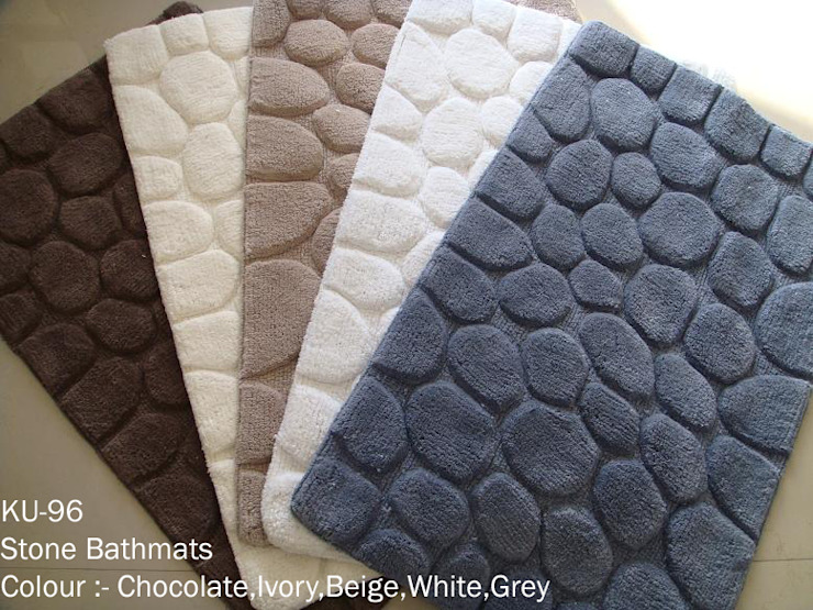 100% super-soft cotton tufted bathmats: asian  by Kansal Udyog,Asian