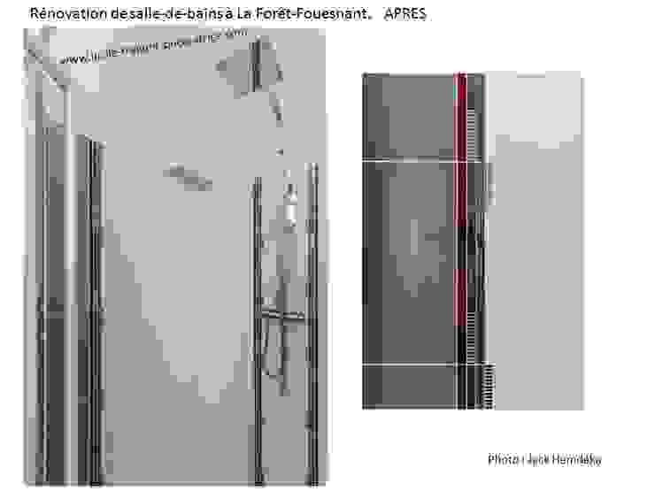 Rénovation d'une salle-de-bains par Lucile Tréguer, décoratrice d'intérieur