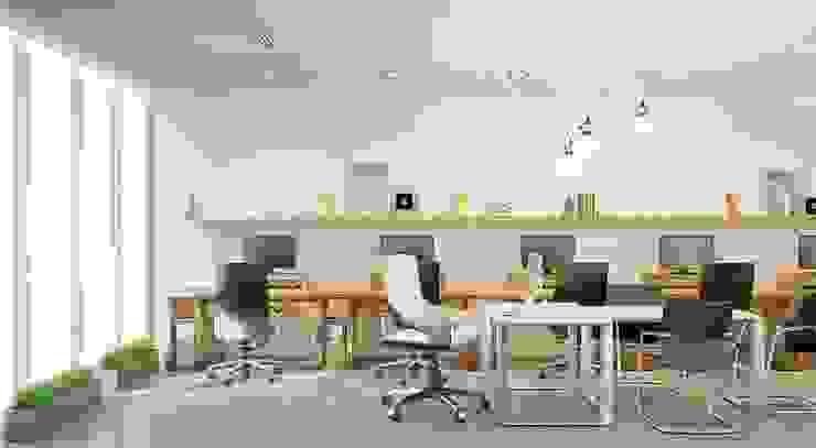 Офис De Steil Рабочий кабинет в стиле минимализм от De Steil Минимализм