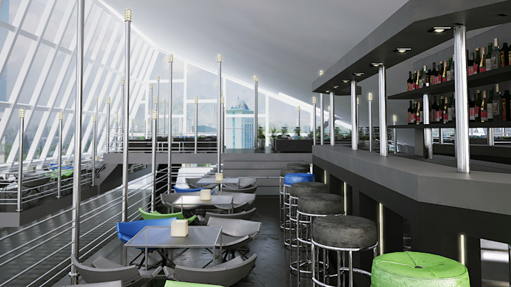 Реконструкция помещения в здании кинотеатра Аврора, Краснодар Медиа комната в стиле минимализм от De Steil Минимализм