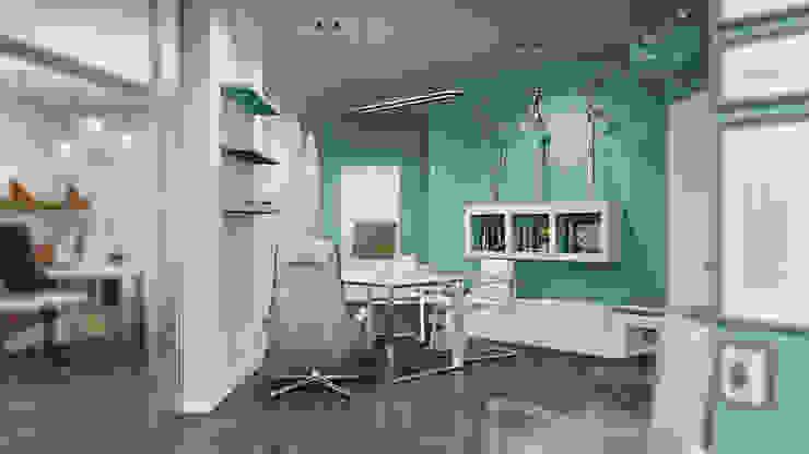Офис туристического агентства Рабочий кабинет в стиле минимализм от De Steil Минимализм