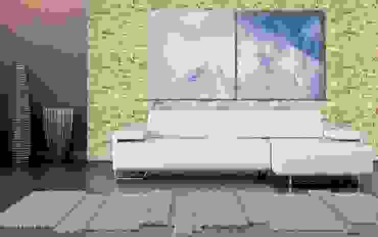 Laja Pizarra Blanco Paredes y pisos de estilo rústico de homify Rústico Aglomerado