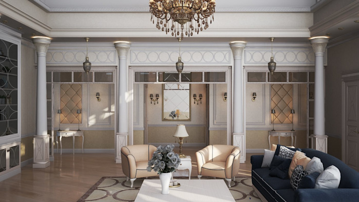Classic style living room by De Steil Classic
