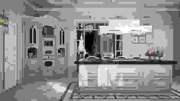Частный дом, 450 м2, Анапа Кухня в классическом стиле от De Steil Классический