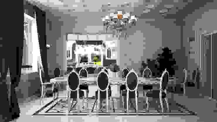 Частный дом, 450 м2, Анапа Столовая комната в классическом стиле от De Steil Классический