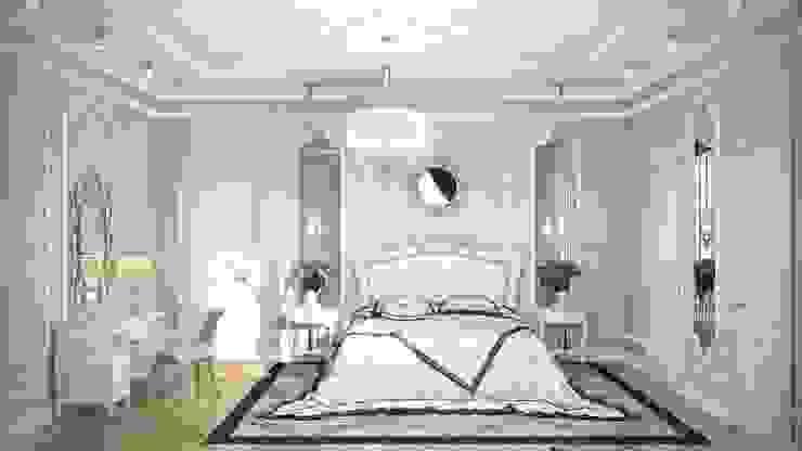 Частный дом, 450 м2, Анапа Спальня в классическом стиле от De Steil Классический