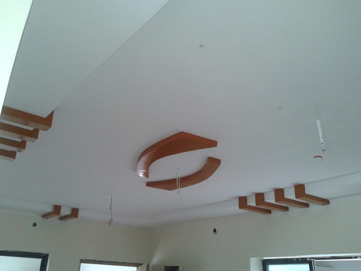 False Ceiling at 8 Streaks Interiors by Eight Streaks Interiors Modern