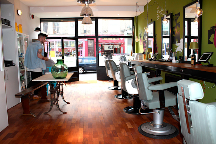 Genco Male Grooming Salon Industrial style commercial spaces by Breaad Industrial