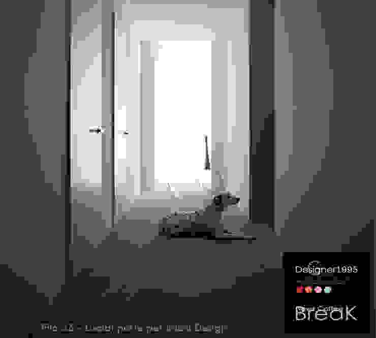 Porte interne Designer1995 - Lualdi Mod. Filo 55 di homify Moderno