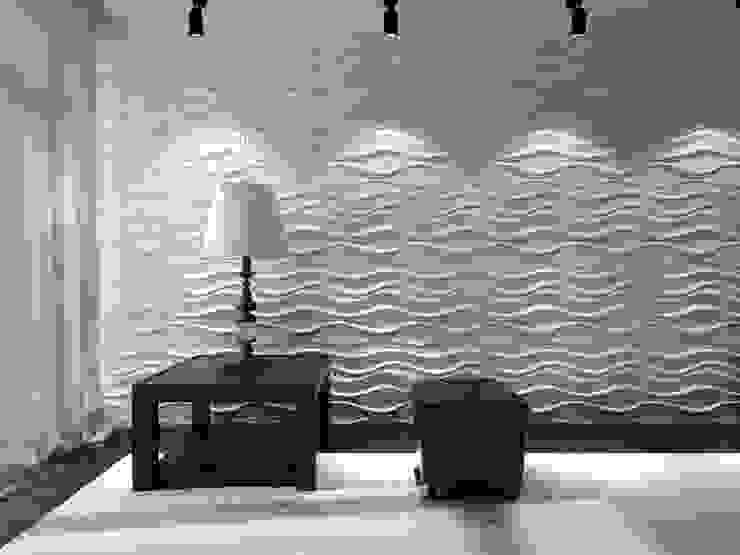 SERIE: LAKE Salas modernas de paneles3deco Moderno