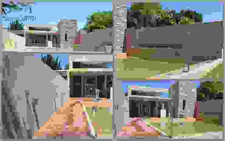 Obra: Quincho y Piscina SG Casas modernas: Ideas, imágenes y decoración de Arquitectura J Cantoli Moderno