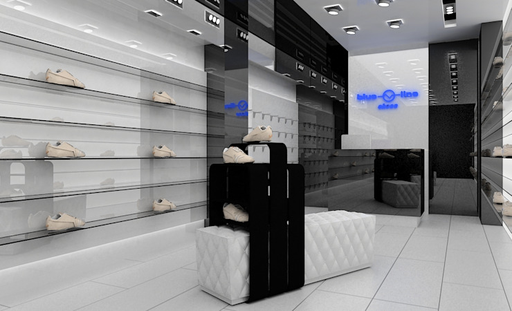 Concepto para zapatería casual Espacios comerciales de estilo minimalista de AG INTERIORISMO Minimalista