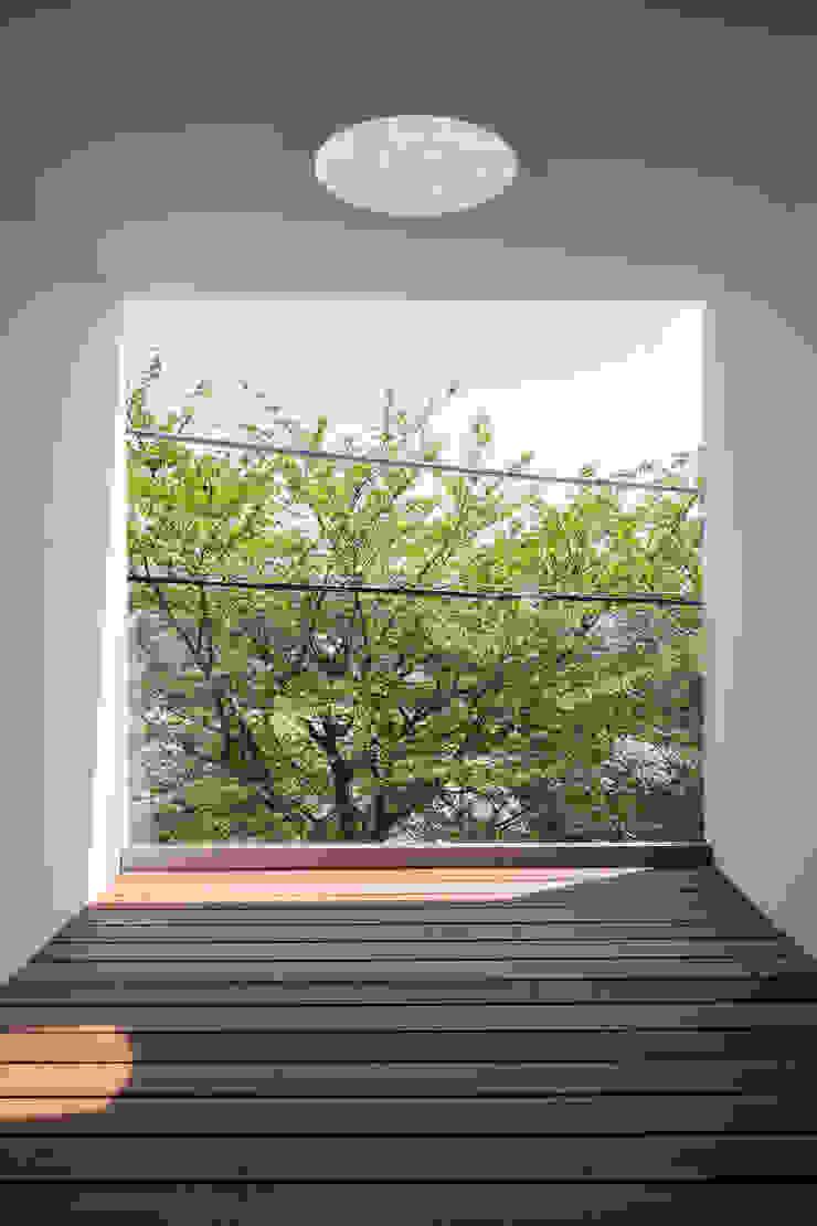 House for green,breeze and light モダンデザインの テラス の Yaita and Associaes モダン
