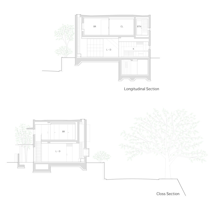 House for green,breeze and light の Yaita and Associaes モダン